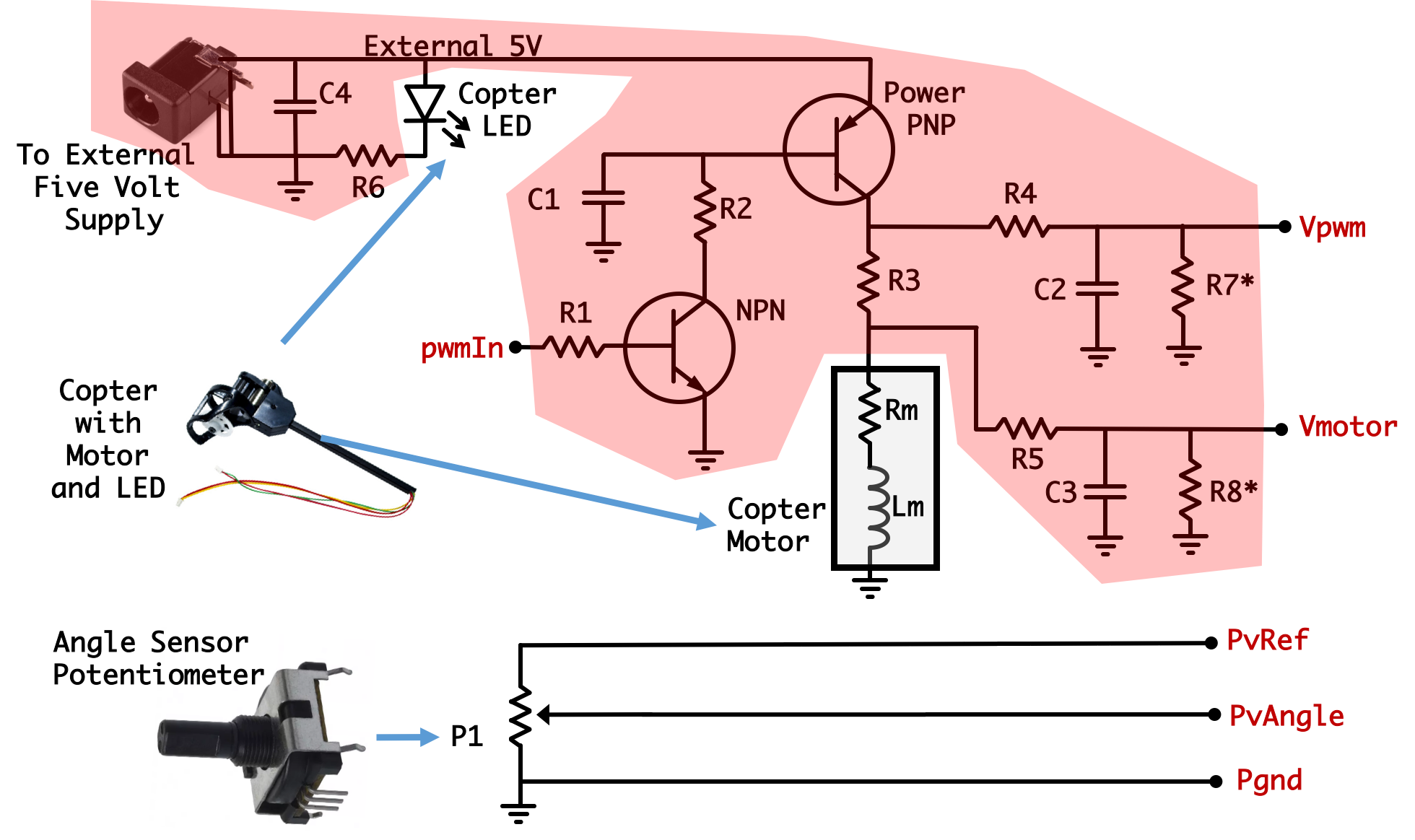Potentiometer Pinout Schematic