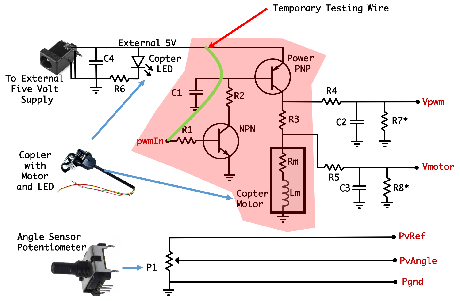Potentiometer And Led Circuit